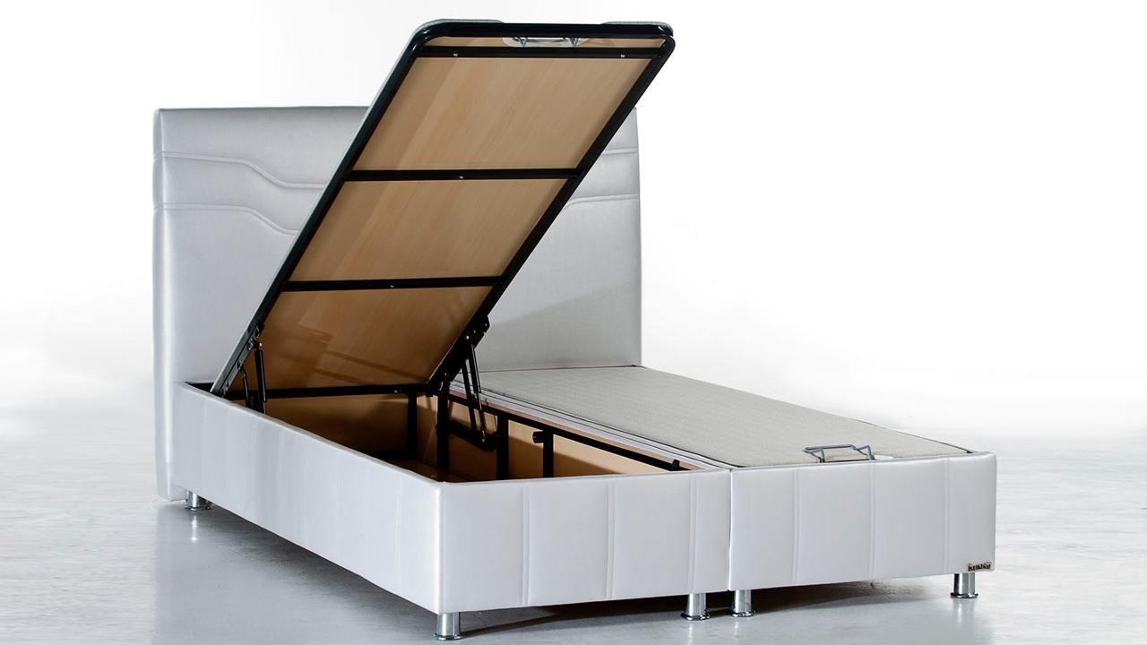Picture of: Ferro Seng Med Opbevaring 140×200 Cm Basic Furniture Aps
