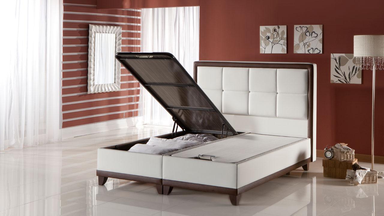 Picture of: Class Seng Med Opbevaring 120×200 Cm Basic Furniture Aps