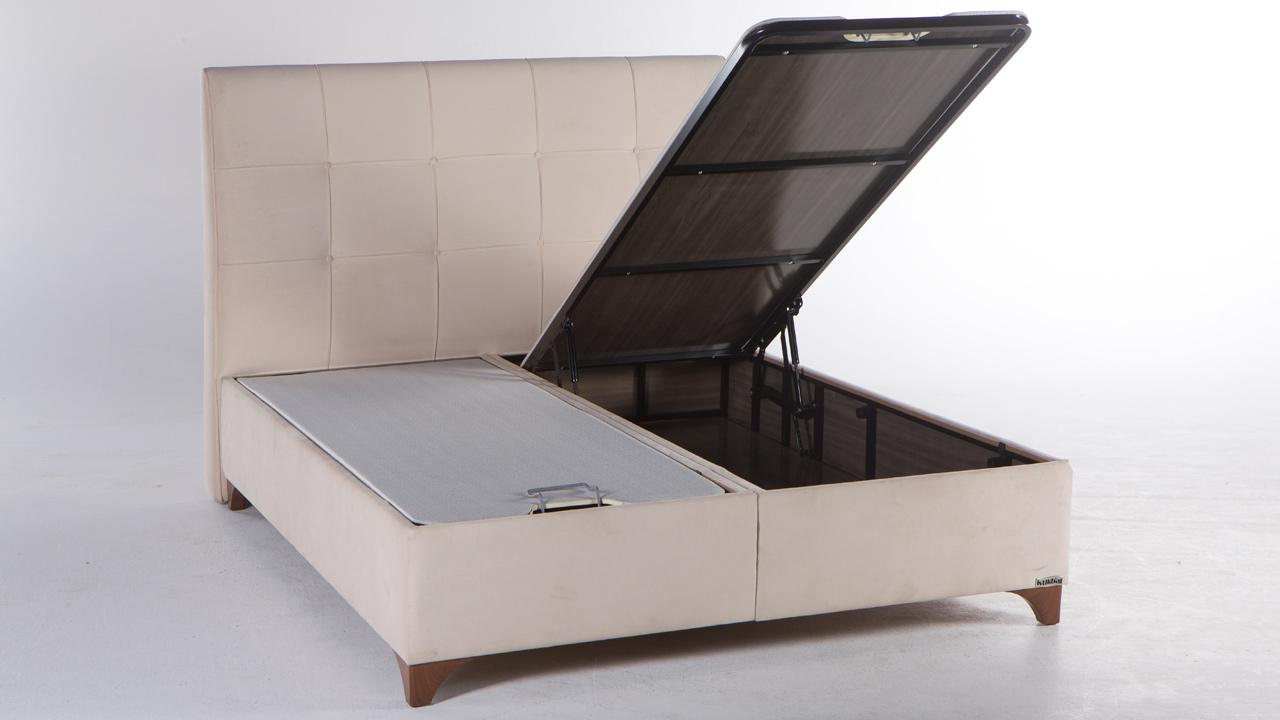 Picture of: Elit Seng Med Opbevaring 120×200 Cm Basic Furniture Aps