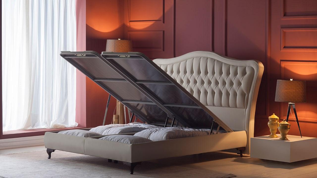 Picture of: Elizabeth Seng Med Opbevaring 120×200 Cm Basic Furniture Aps